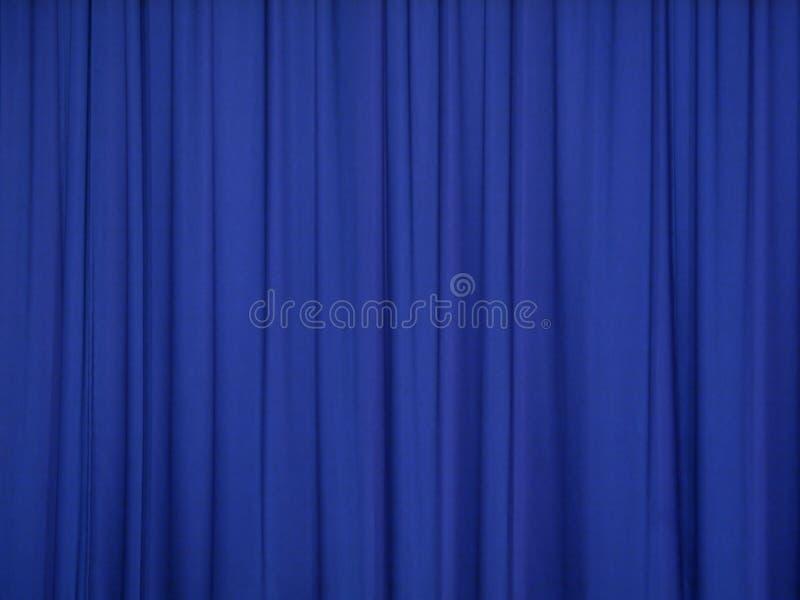 Blauw gordijn royalty-vrije stock foto's