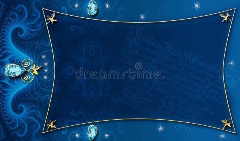 Blauw-gouden Lay-out Als achtergrond vector illustratie