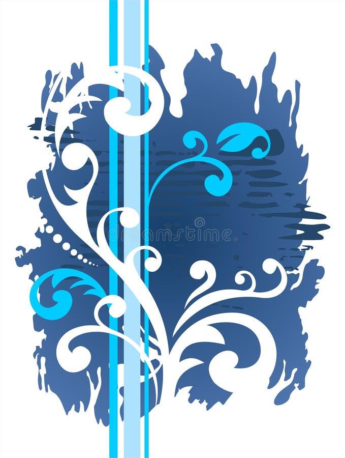 Blauw grungepatroon royalty-vrije illustratie