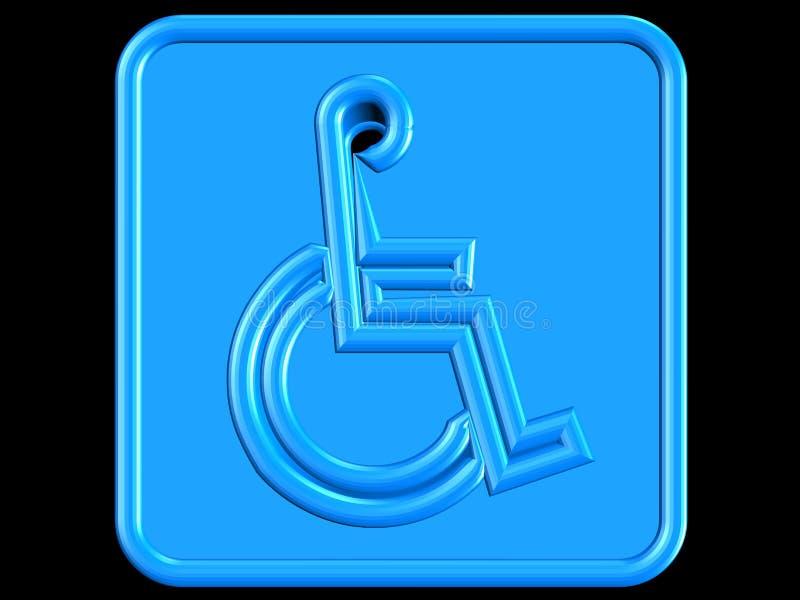 Blauw handicapsymbool vector illustratie
