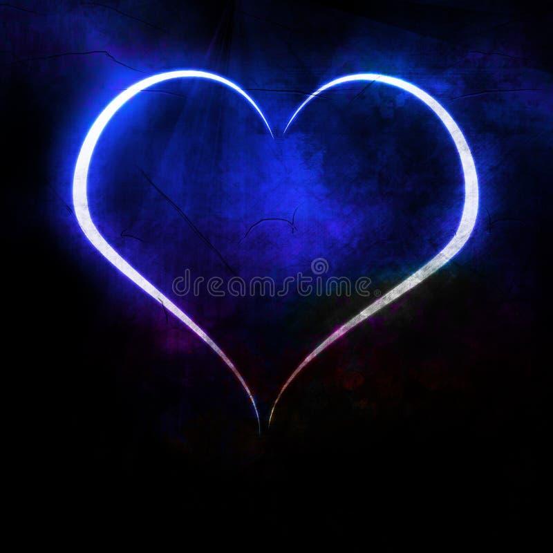 Blauw hart royalty-vrije illustratie