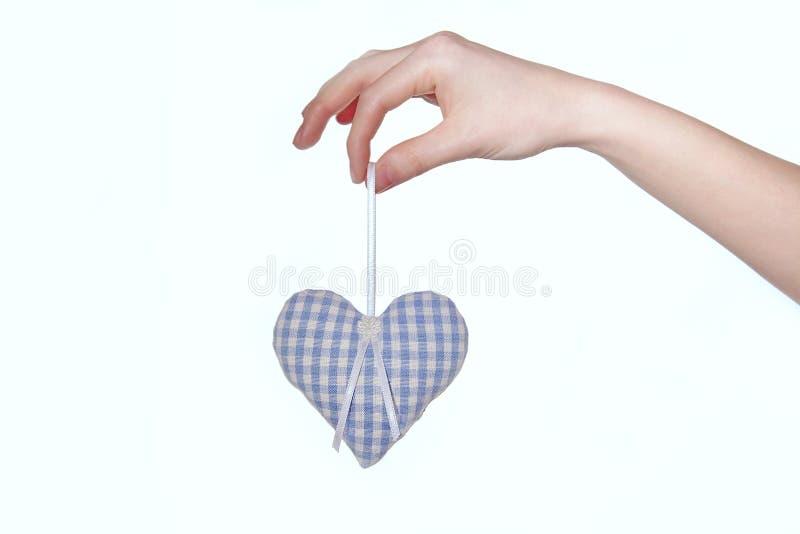 Blauw Hart stock afbeelding