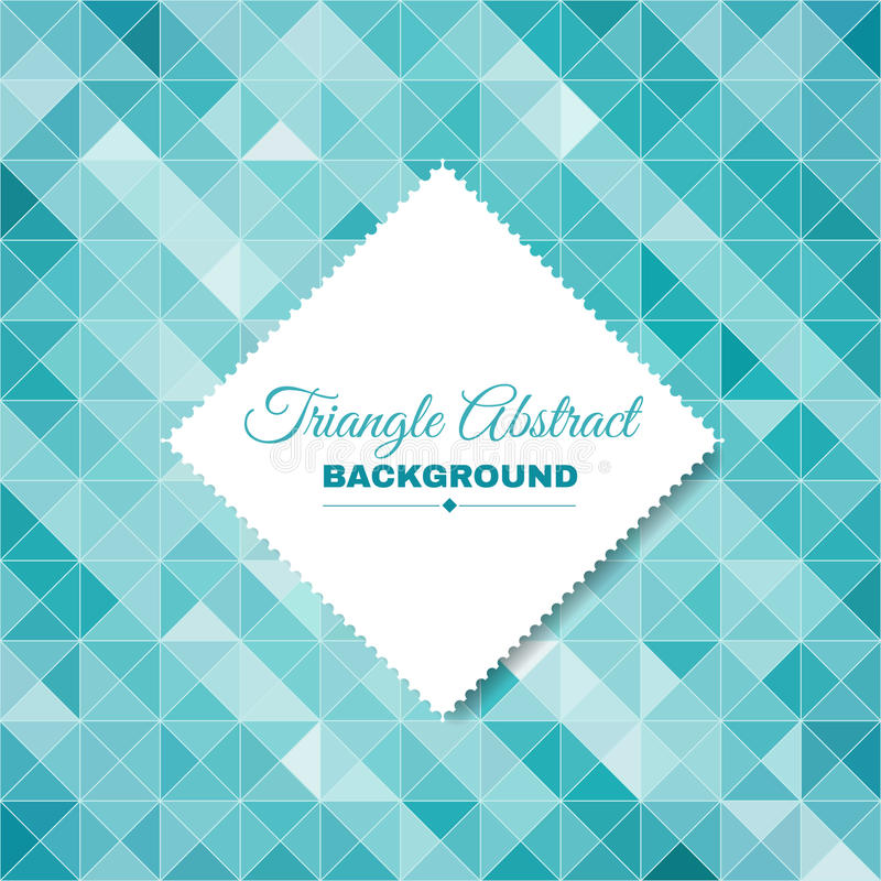 Blauw het glas abstract van het Driehoekskristal ontwerp als achtergrond vector illustratie