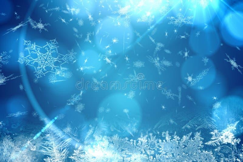 Blauw het patroonontwerp van de sneeuwvlok stock illustratie