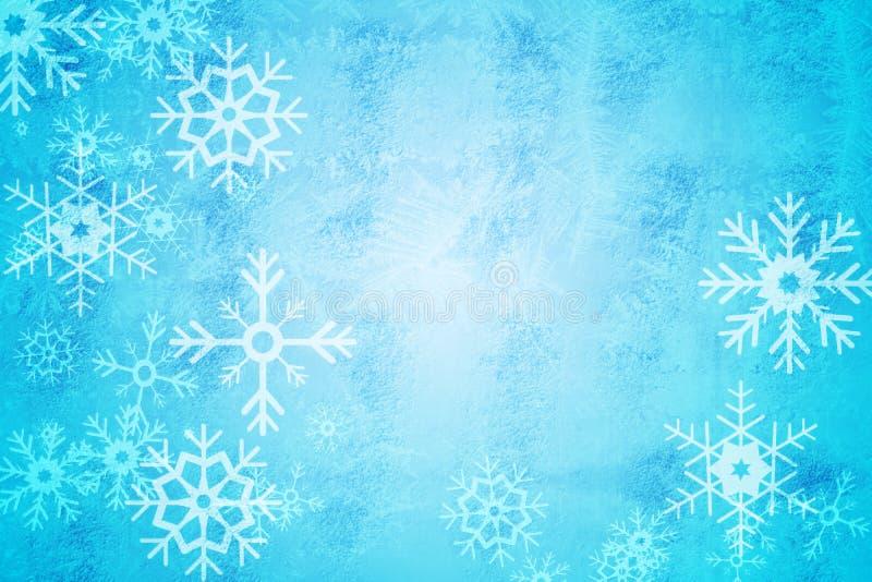 Blauw het patroonontwerp van de sneeuwvlok royalty-vrije illustratie