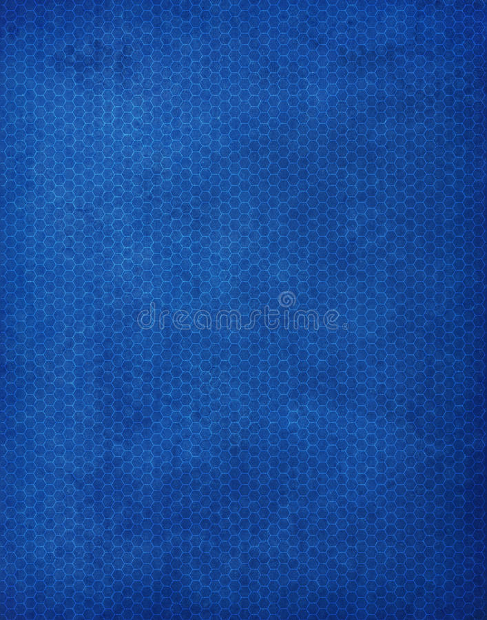 Blauw Hexagon Patroon Als achtergrond stock illustratie