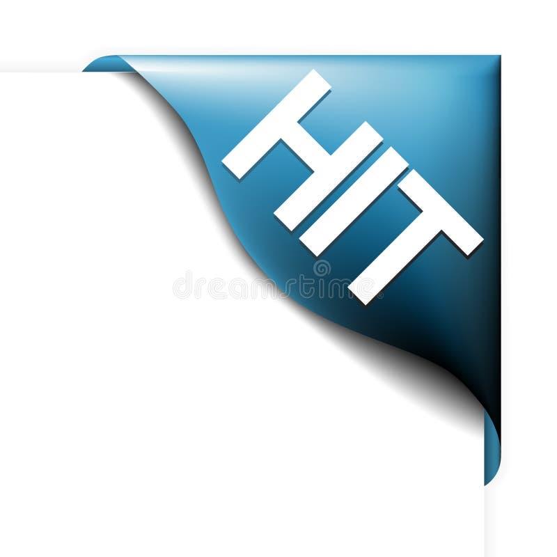 Blauw hoeklint voor best-seller stock illustratie