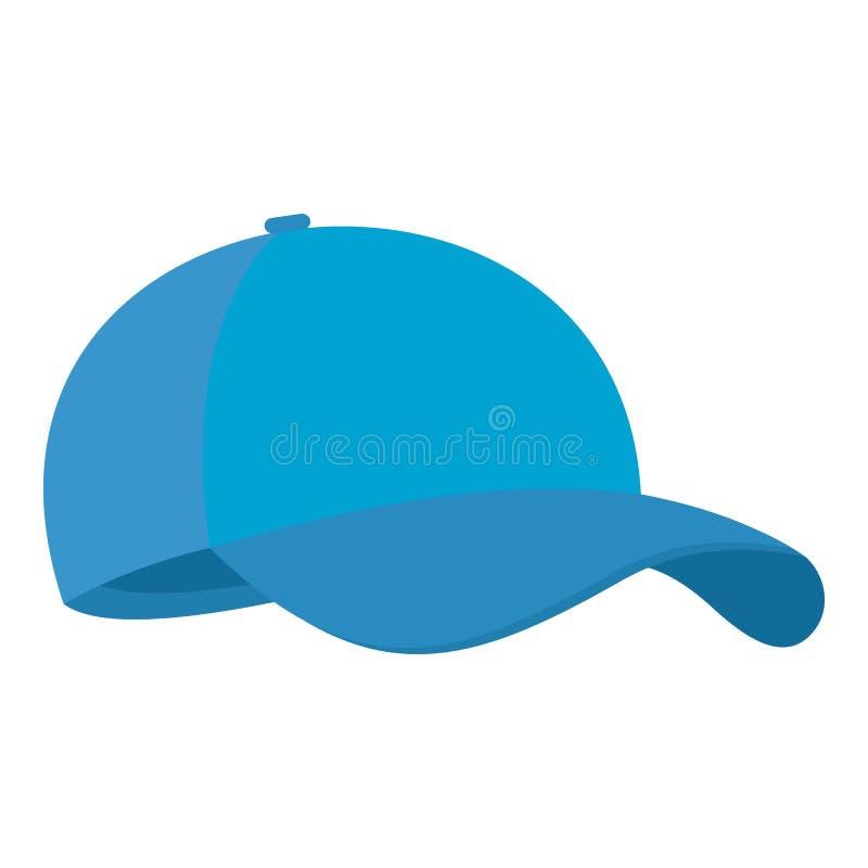 Blauw honkbalglb pictogram, vlakke stijl stock illustratie