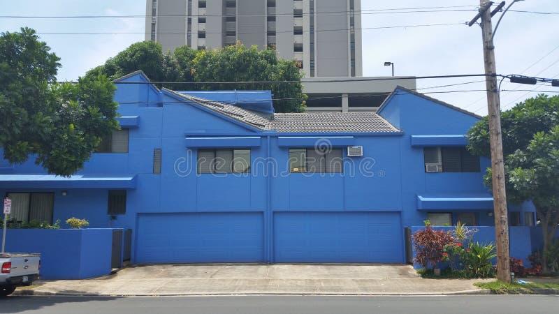 Blauw Huis royalty-vrije stock foto