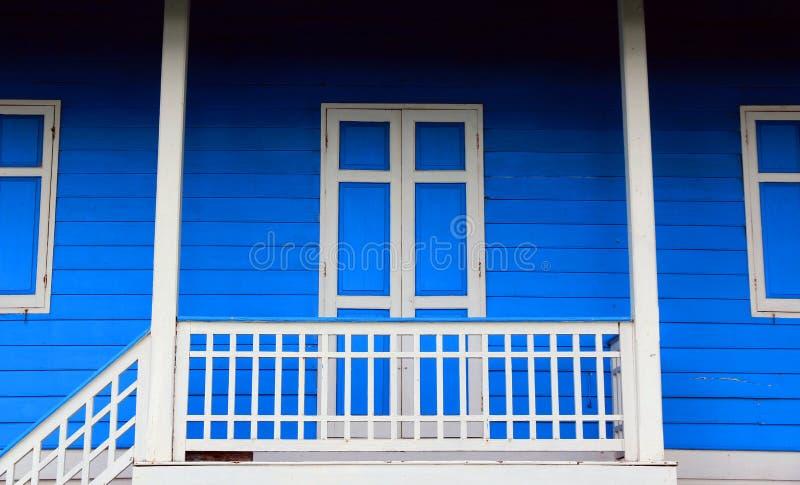 Blauw Huis stock fotografie