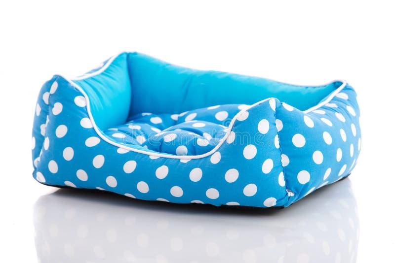 Blauw huisdierenbed stock afbeeldingen