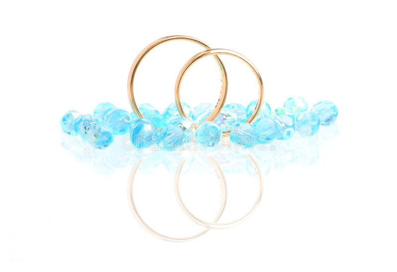 Blauw Huwelijk stock afbeeldingen