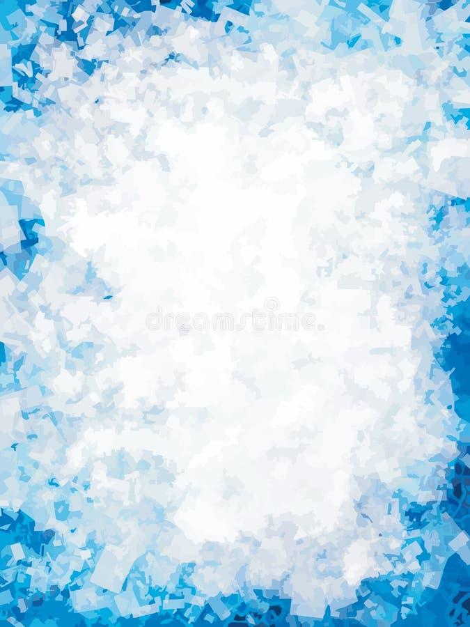 Blauw ijs met plaats voor tekst