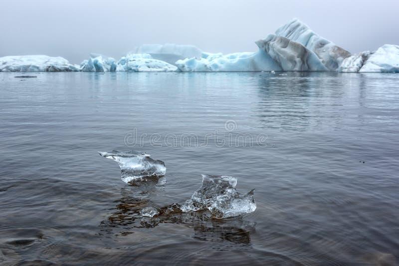 Blauw ijs van de Jokulsarlon-Gletsjerlagune, verbazende aard van IJsland royalty-vrije stock foto's
