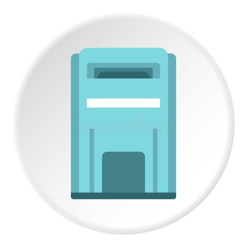 Blauw inboxpictogram, vlakke stijl stock illustratie