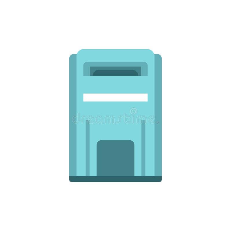 Blauw inboxpictogram, vlakke stijl vector illustratie