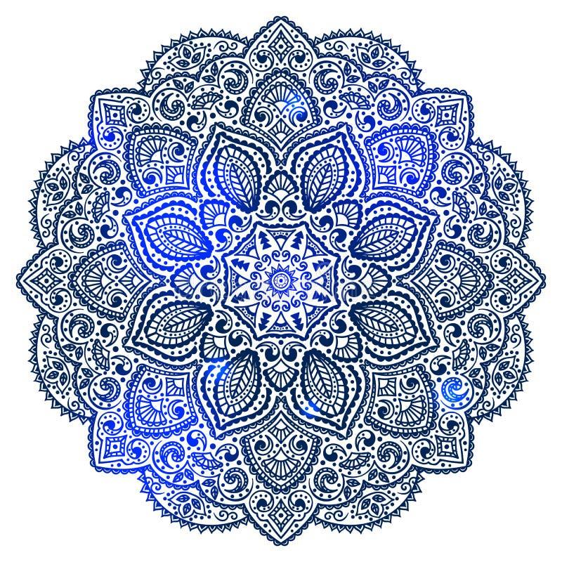 Blauw Indisch ornament vector illustratie