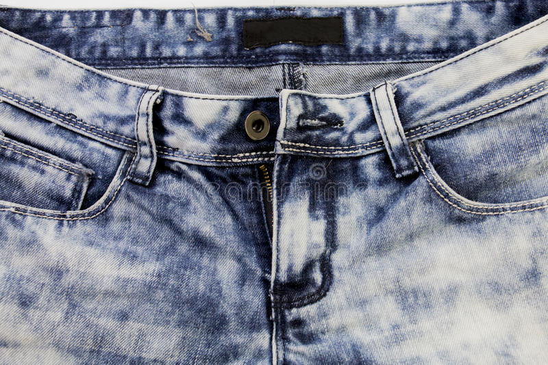 Blauw Jean of blauw denim van industrieel royalty-vrije stock fotografie