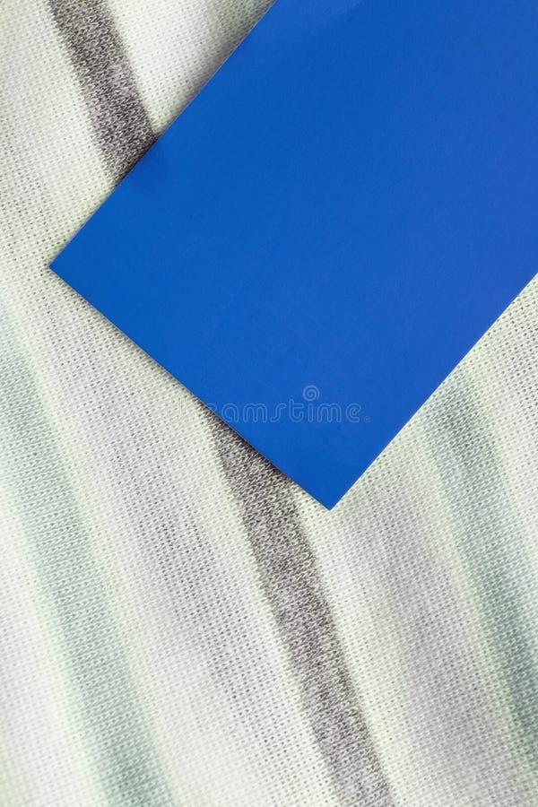 Blauw klerenetiket royalty-vrije stock afbeeldingen