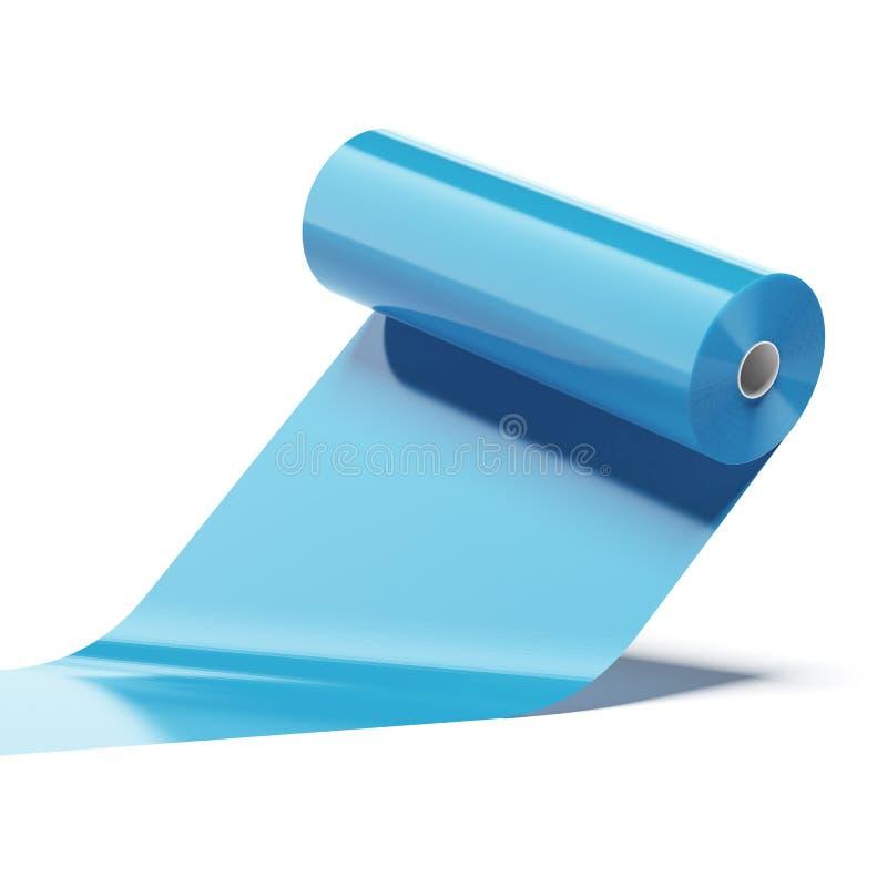 Blauw Kleuren plastic broodje royalty-vrije illustratie