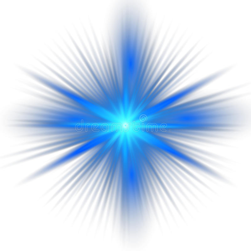 Blauw kleurenontwerp met een uitbarsting stock illustratie