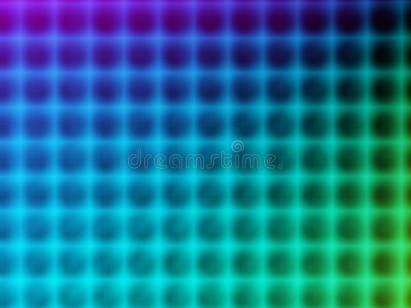 Blauw kleurenspectrum vector illustratie