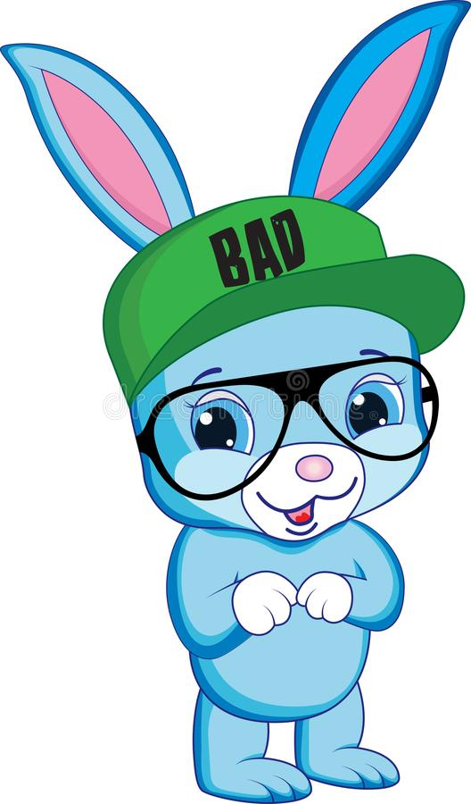 Blauw konijn royalty-vrije stock foto