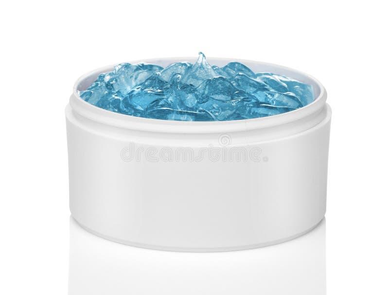 Blauw kosmetisch gel stock afbeelding
