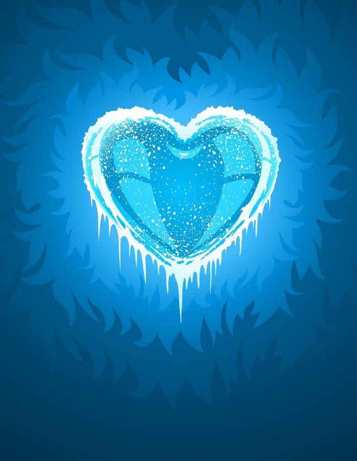 Blauw koud ijzig hart