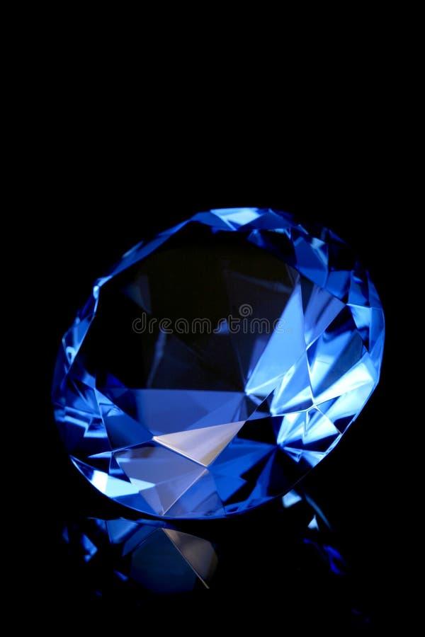 Blauw kristal stock afbeeldingen