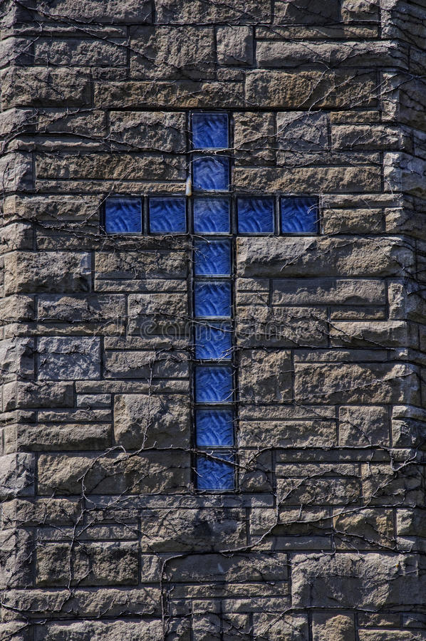 Blauw kruis stock foto
