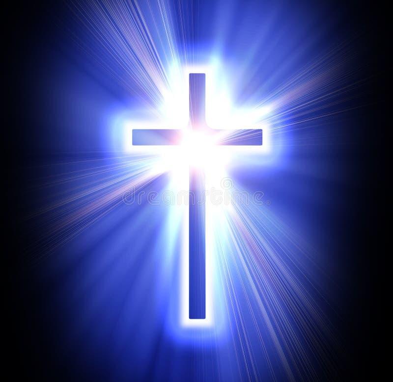 Blauw kruis vector illustratie
