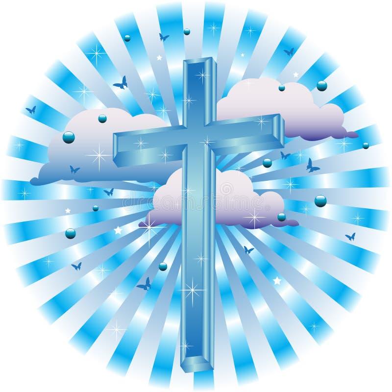 Blauw kruis royalty-vrije illustratie
