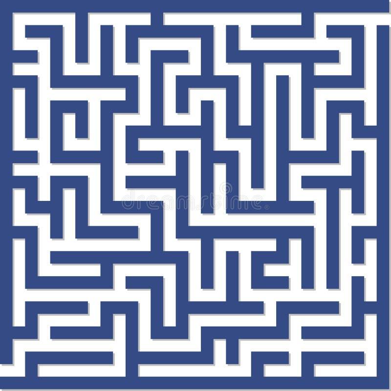 Blauw labyrint vector illustratie