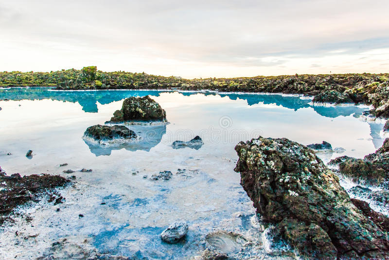 Blauw Lagunegebied dichtbij Reykjavik, IJsland royalty-vrije stock foto