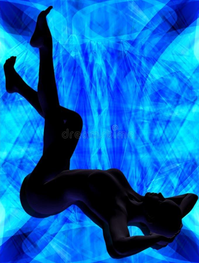 In blauw licht royalty-vrije illustratie