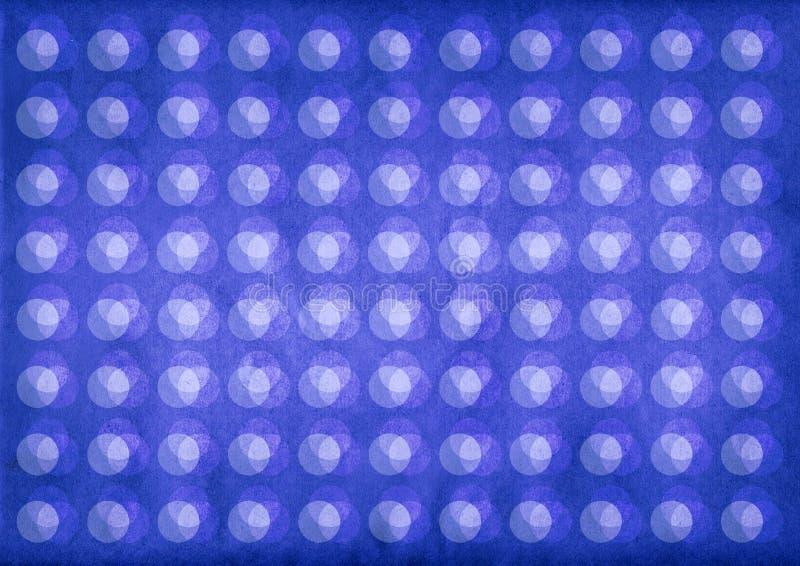 Blauw licht cirkelspatroon vector illustratie