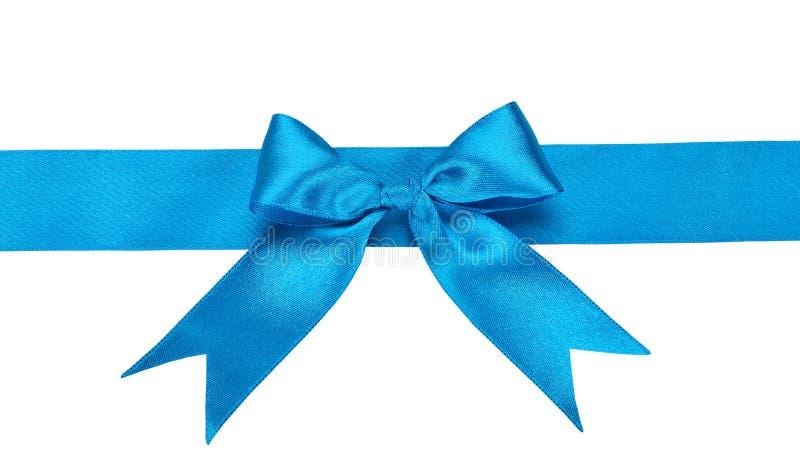 Blauw lint met boog stock foto's