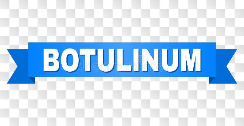 Blauw Lint met BOTULINUM Teksten vector illustratie