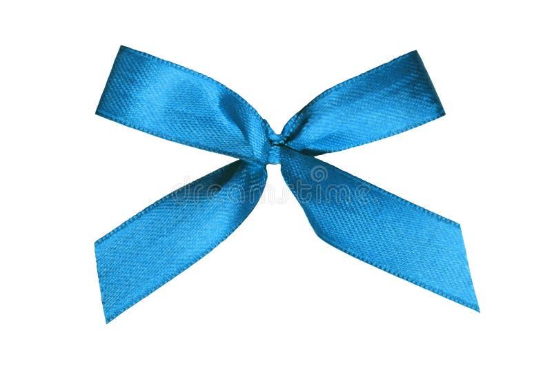 Blauw lint op witte achtergrond royalty-vrije stock afbeelding