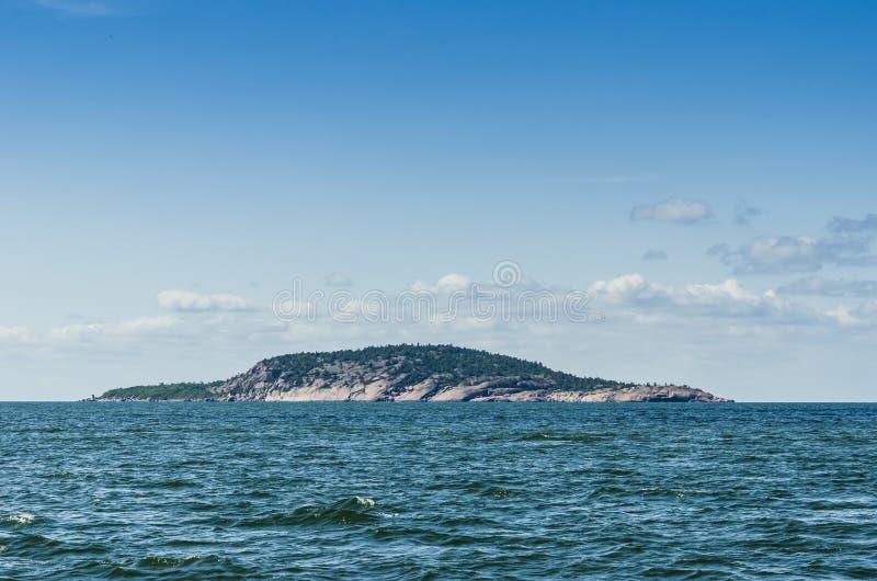 Blauw Maagdelijk eiland nationaal park Zweden stock afbeeldingen