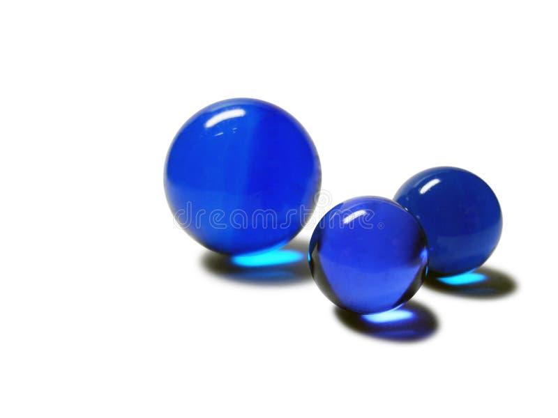 Blauw marmer op wit stock afbeelding