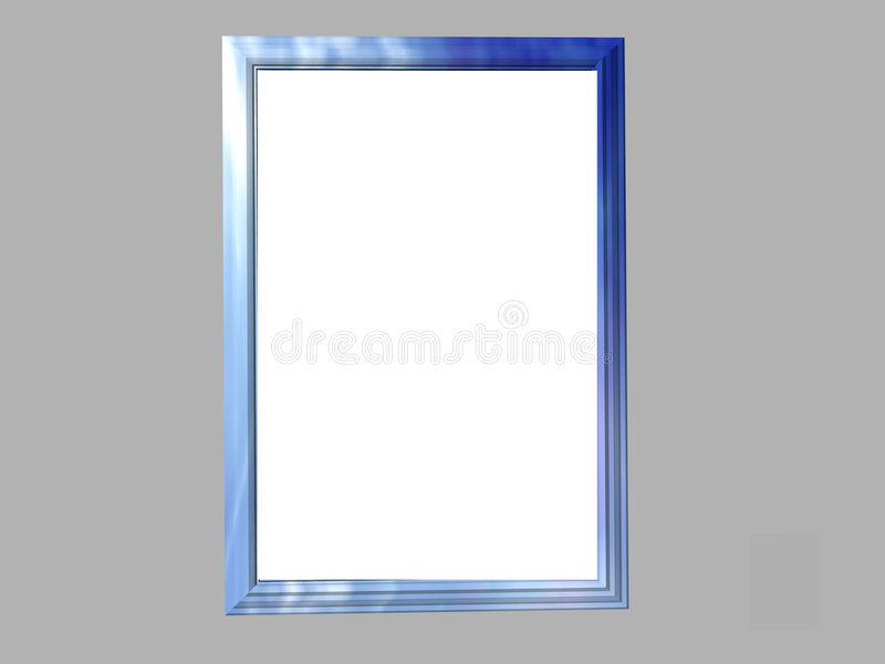 Blauw Marmeren Frame royalty-vrije illustratie