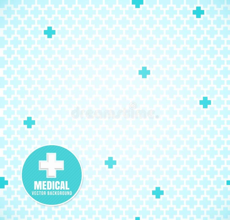 Blauw medisch patroon stock illustratie