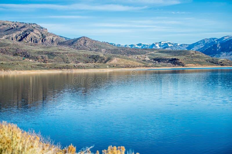 Blauw mesareservoir in gunnison nationaal boscolorado royalty-vrije stock fotografie