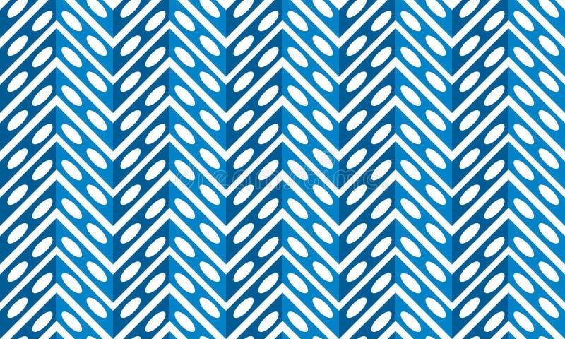 Blauw metaal naadloos varenpatroon royalty-vrije illustratie