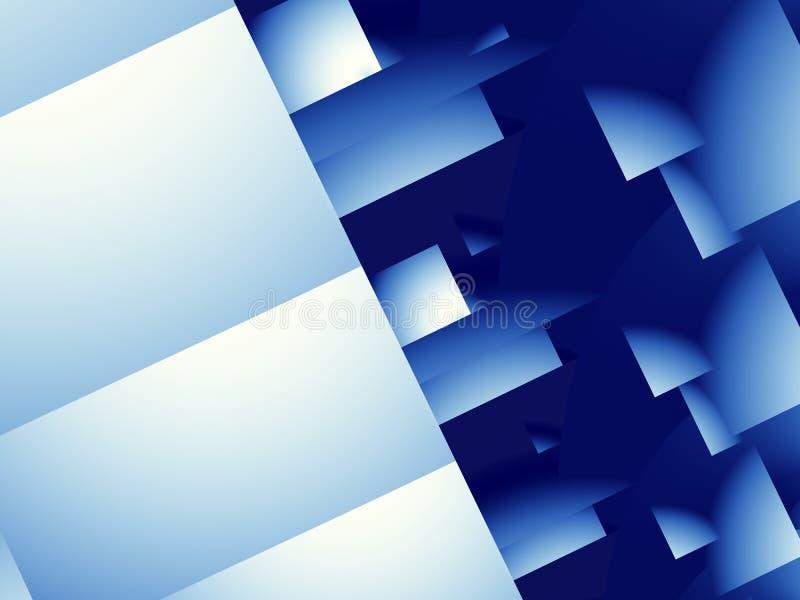 Blauw modern abstract fractal art. Keurige illustratie als achtergrond met geometrische vormen Creatief grafisch malplaatje, zake stock illustratie