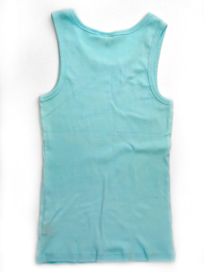 Blauw/Mouwloos onderhemd Aqua stock fotografie