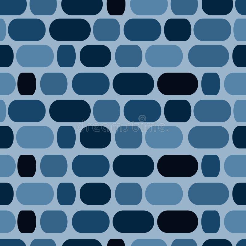 Blauw mozaïek stock illustratie