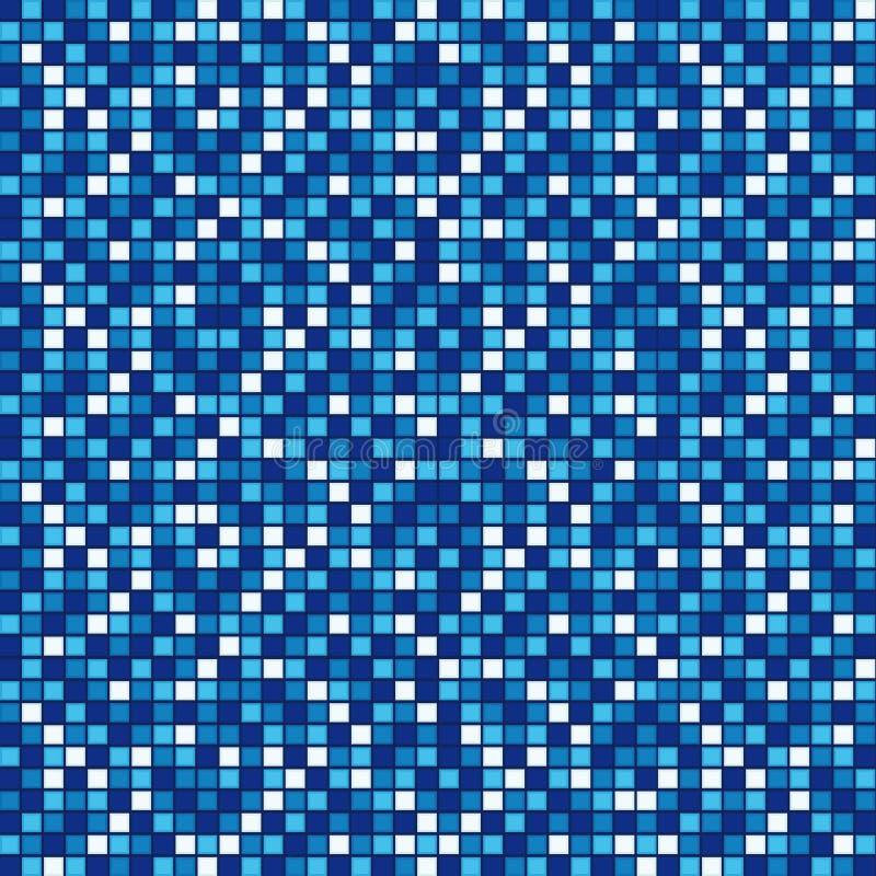 Blauw mozaïek royalty-vrije illustratie